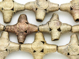 Ornate Brass Cross Beads 24-26mm - Ghana (ME272)