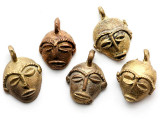 Brass Mask Pendant 28-32mm - Ghana (ME323)