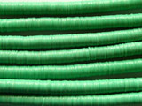 Green Vinyl Disc Beads 6mm (VY14)