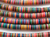 Multi-Color Vinyl Disc Beads 8mm (VY26)
