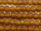 Amber Recycled Glass Beads 14-16mm - Africa (RG458)