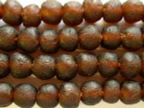 Brown Recycled Glass Beads 13-15mm - Africa (RG462)