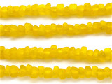 Yellow Tulip Recycled Glass Beads 8mm - Africa (RG475)