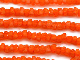 Orange Tulip Recycled Glass Beads 8mm - Africa (RG479)