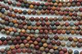 Red Creek Jasper Round Gemstone Beads 6mm (GS2341)
