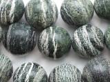Green Silver Line Jasper Round Gemstone Beads 20mm (GS2351)