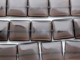 Smoky Quartz Square Tabular Gemstone Beads 25mm (GS2359)
