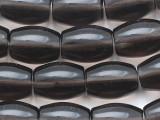 Smoky Quartz Barrel Gemstone Beads 14mm (GS2365)