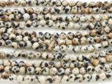Dalmatian Jasper Round Gemstone Beads 4mm (GS2369)