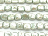 Mint Green Square Tabular Pearl Beads 11mm (PRL62)