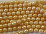 Peach Irregular Pearl Beads 6mm (PRL46)