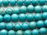Turquoise Magnesite Round Gemstone Beads 16mm (GS2454)