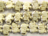 Natural Magnesite Elephant Gemstone Beads 18mm (GS2460)