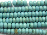 Turquoise Howlite Rondelle Gemstone Beads 8mm (GS2462)