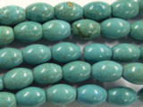 Turquoise Magnesite Barrel Gemstone Beads 14mm (GS2466)