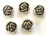 Pewter Bead - Rose 10mm (PB324)