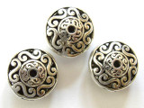 Pewter Bead - Saucer 16mm (PB329)