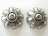 Pewter Flower Bead Cap 25mm (PB331)