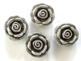 Pewter Bead - Rose 18mm (PB292)