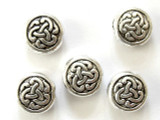Pewter Bead - Celtic Knot Coin 10mm (PB299)