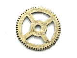 Brass Gear - Steampunk Pewter Pendant 20mm (PW618)