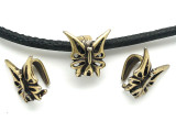 Brass Butterfly - Steampunk Pewter Bail 14mm (PW630)