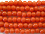 Red Irregular Round Glass Beads 5-7mm (JV658)
