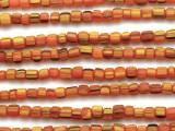 Orange & Yellow Graduated Glass Beads 4-6mm (JV631)