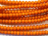 Orange White Heart Trade Beads 5-7mm (AT51)