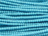 Turquoise Blue White Heart Trade Beads 4mm (AT56)