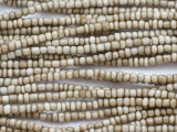 Antique Off-White Glass Trade Beads 3-4mm - Africa (AT30)