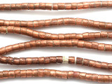 Copper Cylinder Beads 5mm - Ethiopia (ME70)