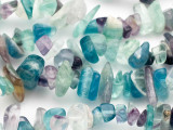 "Rainbow Fluorite Large Chip Gemstone Beads - 30"" strand (GS2569)"