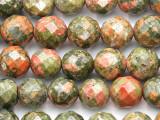 Unakite Faceted Round Gemstone Beads 10mm (GS2578)