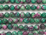 Ruby Zoisite Faceted Round Gemstone Beads 10mm (GS2588)
