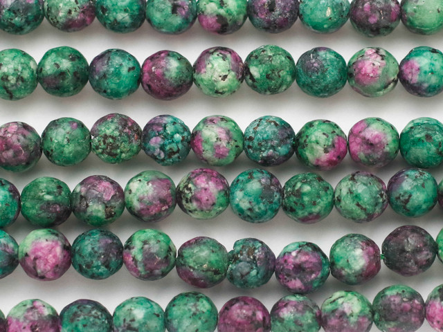rondelle beads faceted beads ruby zosite fine Ruby Zosite 7mm Rondelle Beads 10 trand natural gemstone ruby zosite necklace