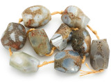 Large Faceted Rough Agate Gemstone Beads 28-30mm (GS2550)