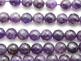 Amethyst Faceted Round Gemstone Beads 10mm (GS2557)