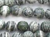 Green Silver Line Jasper Round Gemstone Beads 8mm (GS2515)