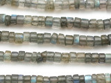 Labradorite Irregular Heishi Gemstone Beads 6mm (GS2617)