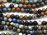 Mixed Round Gemstone Beads 7-8mm (GS2567)