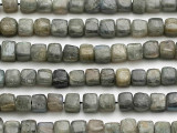 Labradorite Cube Gemstone Beads 8mm (GS2625)