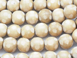 Natural Polka Dot Round Wood Beads 19mm - Indonesia (WD216)
