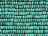 Turquoise Rondelle Disc Wood Beads 5mm - Indonesia (WD238)