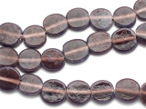 Plum Purple Round Tabular Recycled Glass Beads 14mm - Indonesia (RG496)