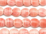 Pink Round Tabular Recycled Glass Beads 18mm - Indonesia (RG506)