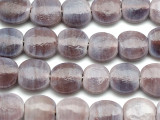 Lavender Round Tabular Recycled Glass Beads 18mm - Indonesia (RG508)