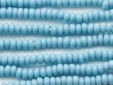 Light Blue Rondelle Glass Beads 5-7mm (JV724)