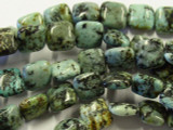 "African ""Turquoise"" Square Tabular Gemstone Beads 10.5mm (GS2988)"
