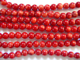 Red Bamboo Coral Round Beads 5-6mm (CO256)
